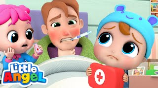 Daddy Got Sick | Baby John To The Rescue | Little Angel Kids Songs and Nursery Rhymes