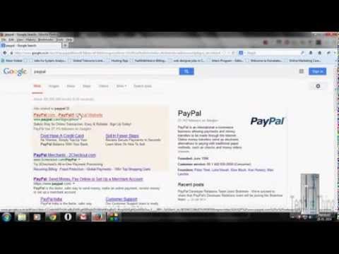 How to create paypal account , linking credit card /bank account to it- English