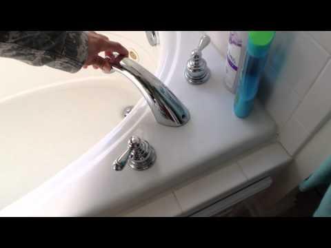 Tub loose faucet