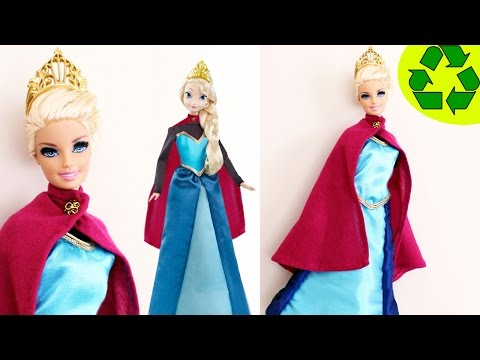 How to make a coronation dress for your Elsa or Barbie doll- Doll Crafts - simplekidscrafts