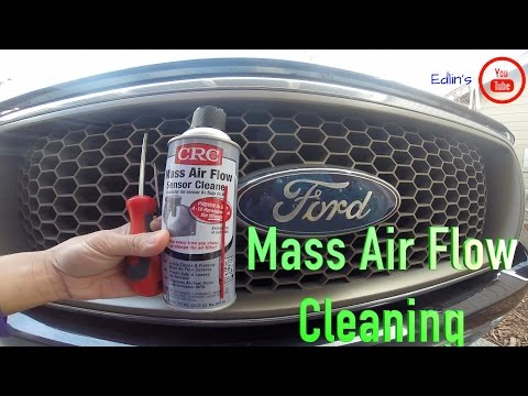 Ford F-150: Mass Air Flow Sensor Cleaning - under 5 minutes