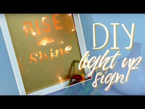 DIY Light-Up Sign   Affordable & Hipster Decor