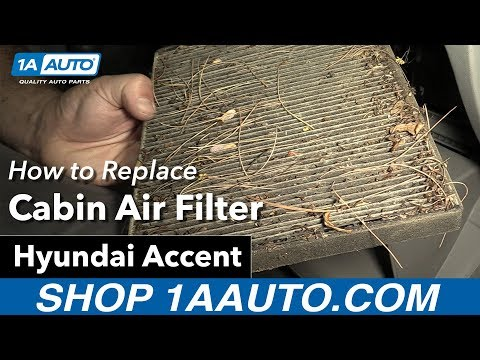 how to Replace Install Cabin Filter 07 Hyundai Accent