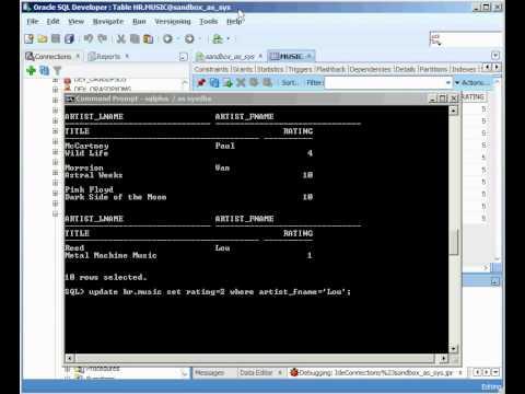 Oracle - Locking - Beginner