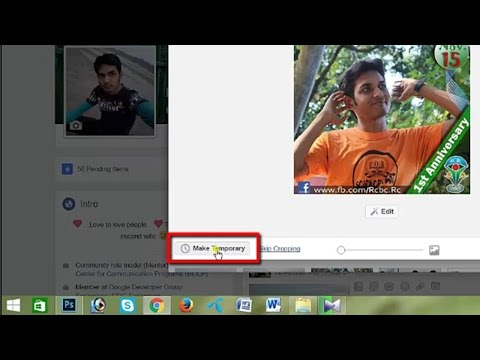 How to set temporary profile picture on facebook [updated]