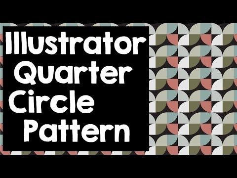 Quarter Circle Pattern in Illustrator- Making Seamless Tiling Patterns