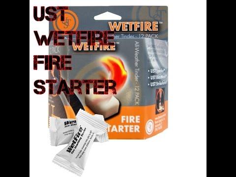 UST Wetfire Fire starter review