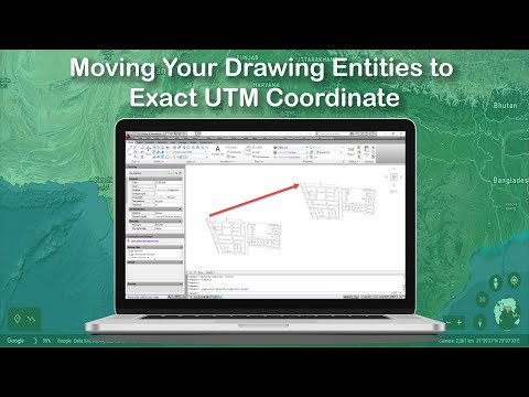 Moving Your Drawing Entities to Exact UTM Coordinate