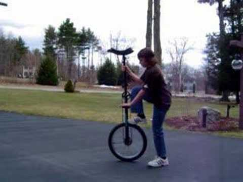 How to Mount a 5-Foot Unicycle
