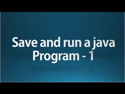 Java tutorial for beginners - 6 -  Run a java program using command prompt 1