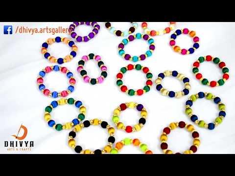 How To Make Designer Bracelet At Home | Friendship bracelets | kids jewelry | diy | Silk Thread