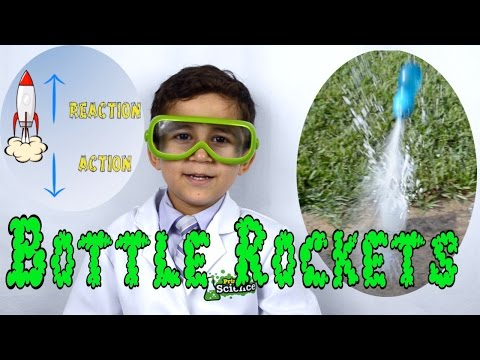 Bottle Rocket Science - Easy Kid science experiment   Newton's 3rd law of motion