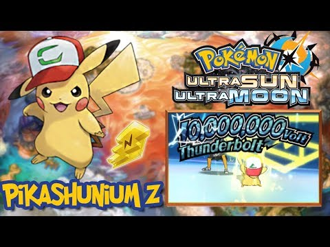 HOW TO GET PIKASHUNIUM Z // ASH HAT PIKACHU QR CODE!!! - Pokemon UltraSun