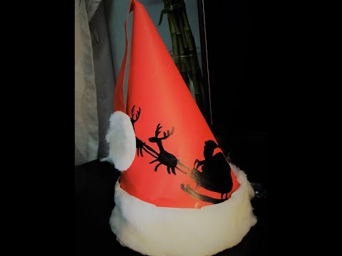 How to Make Easy Paper Santa Claus Hat