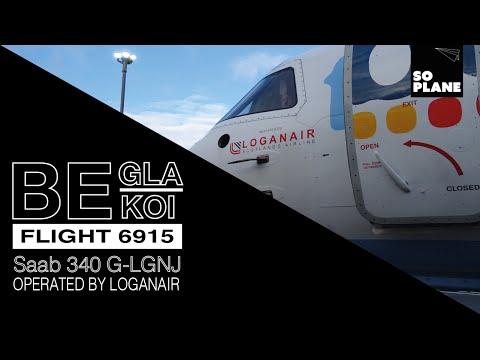 Flybe by Loganair | Saab 340 | Glasgow to Kirkwall | Full Flight