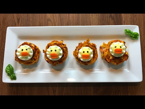 Pasta nests with egg chicks - Cooking Simple Recipes