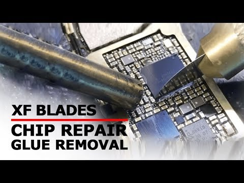 XF Ultra Thin Blades for iPhone Motherboard Repair Operating Video