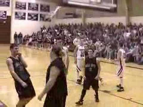 Basketball Player Gets Swatted by Fat Kid
