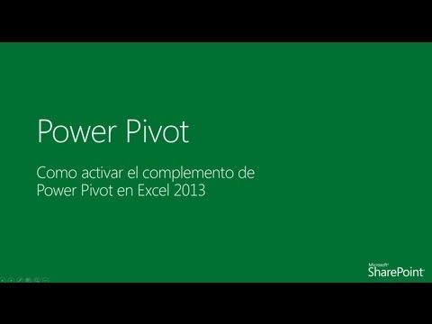 Como activar el complemento de Power Pivot en Excel 2013