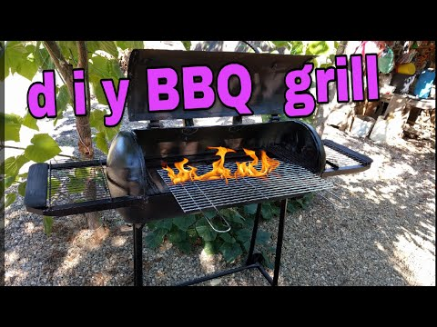 diy BBQ grill from Tank