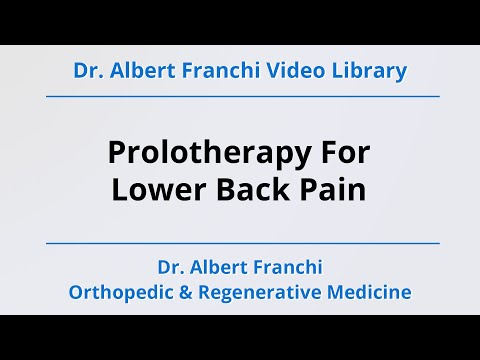 Prolotherapy For Lower Back Pain