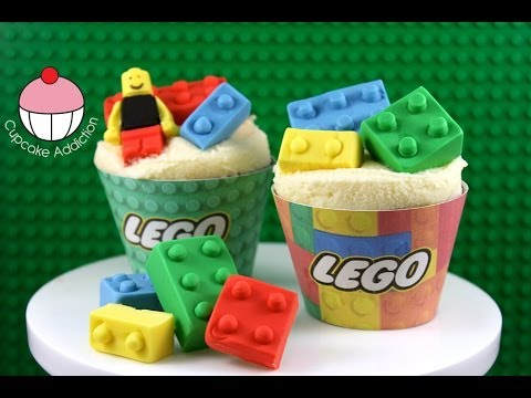 LEGO Cupcakes! How to Make Edible Lego for your Cakes and Cupcakes - by Cupcake Addiction