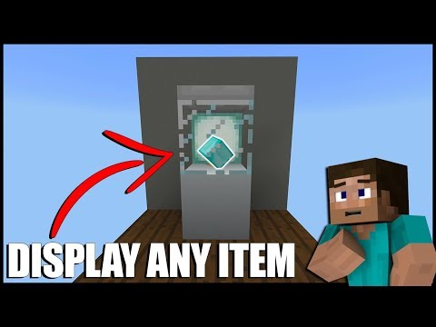 How To Display Any Item In Minecraft (No commands/Mods/Item Frames)