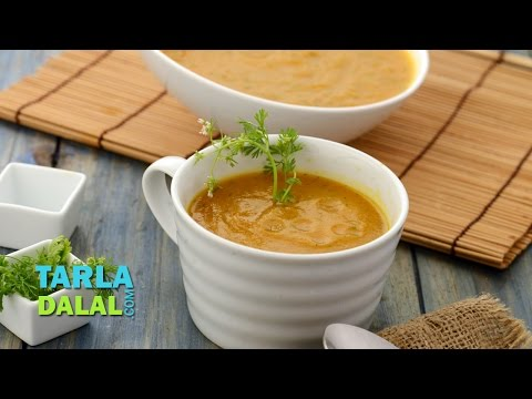 Carrot and Coriander Soup (Low Calorie) by Tarla Dalal