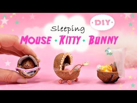 Amazing Sleeping Mini Mouse Kitty & Bunny