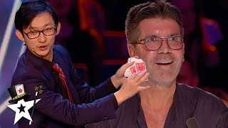 Funny Card Magician Gets Amanda Holden on Stage | Britain's Got Talent 2020 | Magicians Got Talent