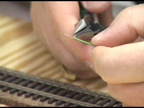 How to build a model railroad: Installing feeder wires on model railroad track