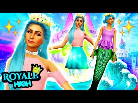 BECOMING A MERMAID IN ROYALE HIGH! 🧜♀️✨ The Sims 4 Royal High School #1! 👑