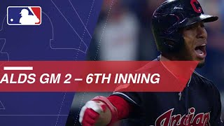 Watch the eventful sixth inning of the Yankees - Indians ALDS Gm2