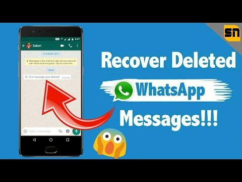 How To Read/Recover Deleted WhatsApp Messages By Sender - New Hack! 100% Working    Srinath Naik   
