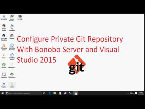 How to configure Private Git Repository With Bonobo Server and Visual studio
