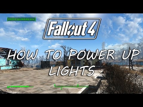 FALLOUT 4: How to Power up Lights - Connecting Lights in Sanctuary Fallout 4 Guides