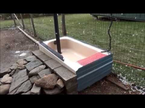 How To Winterize The Duck's Pool Bathtub For The Winter #186 Raising Ducks