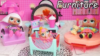 Download LOL Surprise Dolls New Doll house Furniture with Barbie Wedding Goldie Video