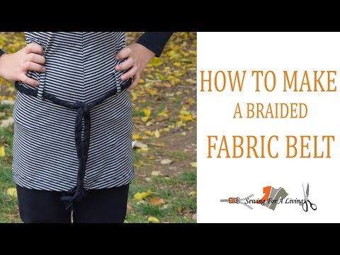 How to make a braided fabric belt
