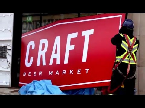 The sign is up & the bar is in! - CRAFT Ottawa