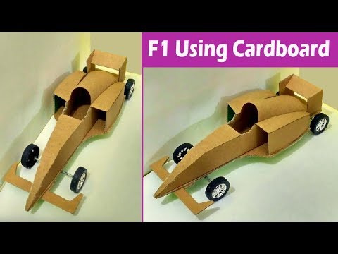 make your own toy car | how to make F1 car with cardboard step by step tutorial