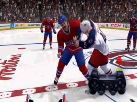 NHL 14 How To Fight - New Controls (NHL14 Demo)