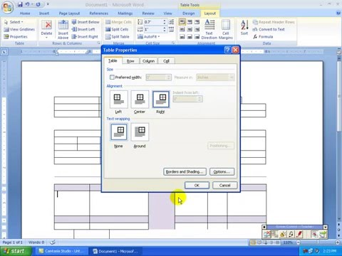 5) MS Word 2007 (Bangla Tutorial) - How to  Create and Manage Table