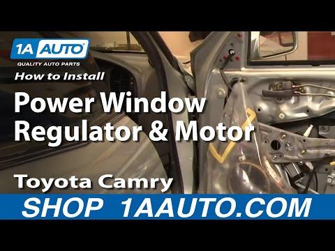 How To Install Replace Power Window Regulator and Motor Toyota Camry 92-96 1AAuto.com