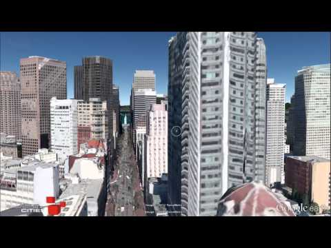 Transitions between Google Earth's legacy building layer and new 3D imagery