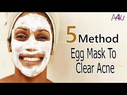 5 Best Method Beauty DIY Egg white Mask To Clear Acne