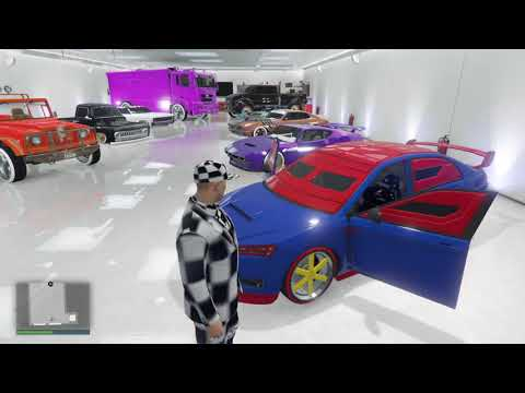 GTA5 CHANGE COLOR AND TIRES ON CARS THAT SHOULDNT HAVE BENNY WHEELS LOL