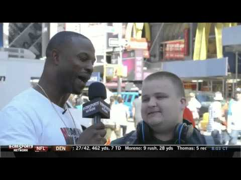 Bart Scott hits Times Square for TOPS on CBS Sports Network