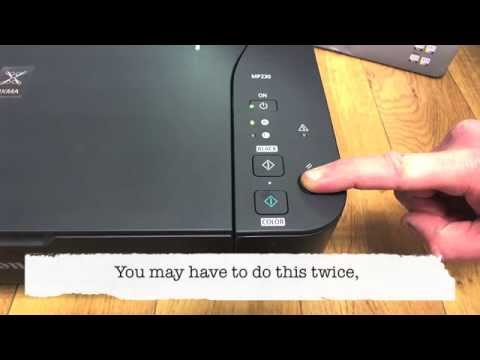 Canon MP230 - Override Empty Cartridge Message [Reset Canon PIXMA Ink Cartridge]