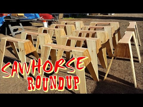 Easy To Build Stackable Wooden Sawhorses - Vlog